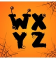 halloween scary colorful alphabet vector image