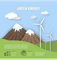 paper art ecological banner green energy vector image