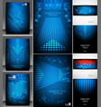 set of abstract pixel backgrounds vector image