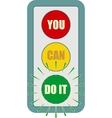 Traffic lights symbol Flashing green vector image