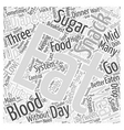 When to Eat when you have Diabetes Word Cloud vector image
