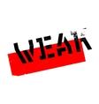 Weak rubber stamp vector image