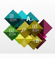 colorful triangles and squares vector image