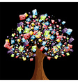 Smart phone application tree vector image vector image