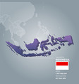 Indonesia information map vector image
