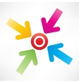 Target with arrows vector image vector image