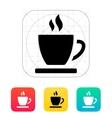 Tea cup icon vector image