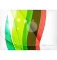 Green and red line swirls vector image vector image