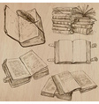 Books Pack of an hand drawn vector image