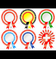 rosettes to represent european countries including vector image