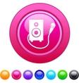 Karaoke circle button vector image