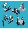 Business Training Isometric Set vector image