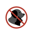 Cat and dog no entry vector image