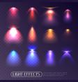 colored light effects transparent set vector image