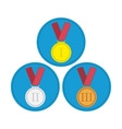 Medal icon set in flat style vector image