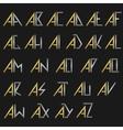 Monogram logo set vector image