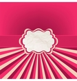 Pink Rays Card vector image