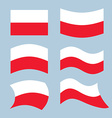 Poland font Polish flag on letters National vector image