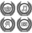 set of symbols of achievement third variant vector image