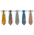 Fashionable mens ties vector image vector image