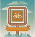 template with cicycle and road vector image vector image