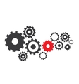 abstract cogs gears vector image
