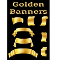 Golden Banners Set vector image