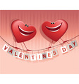 Valentines happy hearts vector image