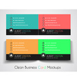Modern Business Card Mockup for your corporate vector image
