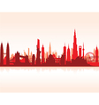 cityscape red flat vector image