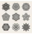 Black And White Mandala Lace Ornaments vector image