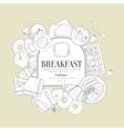 Breakfast Food Vintage Sketch vector image