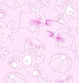 bunny bear childfish seamless texture vector image