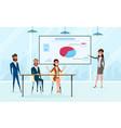 business team brainstorm in meeting room vector image