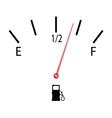 fuel gauge with symbol vector image