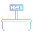 machine of weighing icon in degraded purple to vector image