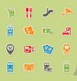 railway station icon set vector image