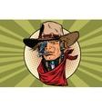 wild West bandit robot steampunk vector image