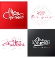 Merry christmas and happy new year 2017 lettering vector image