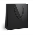 Blank black shopping bag template vector image