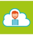cloud computing character man vector image