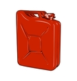 Red jerrycan vector image