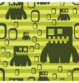 monster pattern vector image vector image