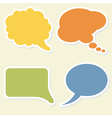 Speech bubbles vector image