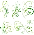spring floral decorative swirls vector image