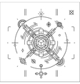 Linear geometrical space design Modern cosmic vector image