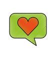 bubble speech love heart app web icon vector image