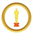 Cinema gold award icon vector image