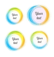 Design elements for the background Color circular vector image