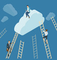 ladders to the clouds vector image